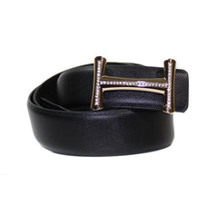Belt - Leather Fashion Black