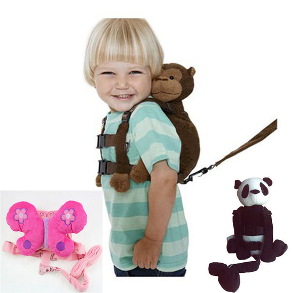 Kids Toddlers Animal Keeper Walking Assistant Safety Backstrap Harness & Leash