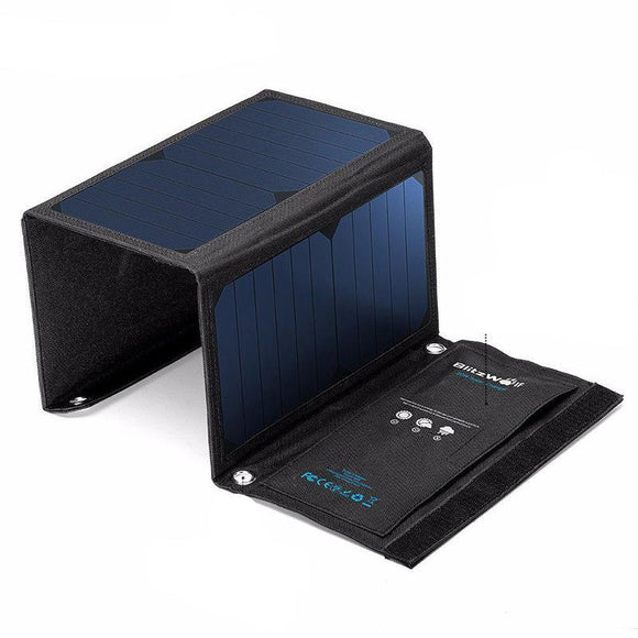 Solar Power Bank With Panel Portable Charger & Universal External Battery