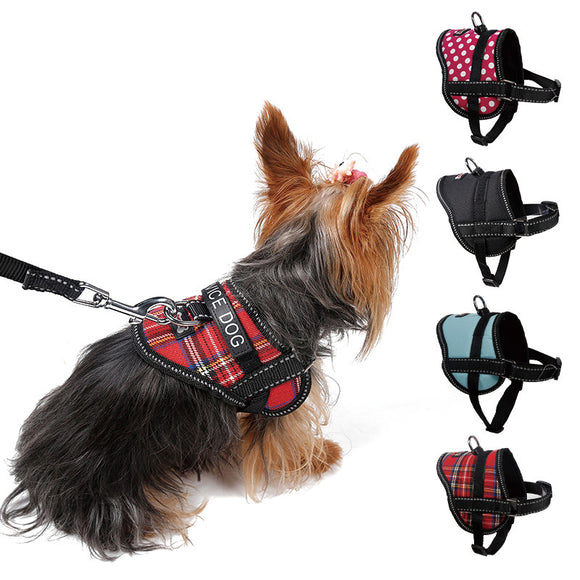 Adjustable Soft Breathable Dog Harness Reflective Pet Vest Rope For Small Dog