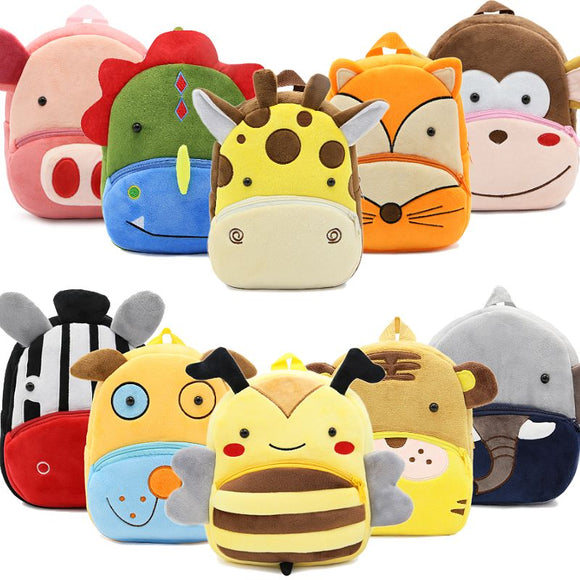 Cartoon Animals Plush Children Backpacks Kindergarten Schoolbag For Boys & Girls
