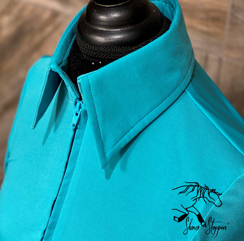 Bright Teal Light Weight Fitted Shirt