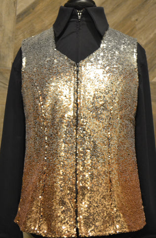 Silver Rose Gold XL Ombre Vest - Show Stoppin'