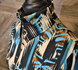 Large Black Turquoise Sand Shirt - Show Stoppin'