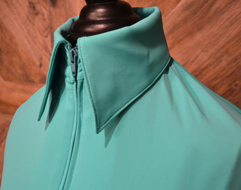 SS Bright Teal Fitted Zip Up - Show Stoppin'
