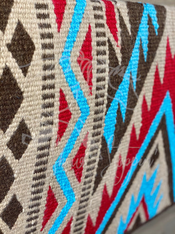 Chocolate Turquoise N Red Show Blanket - Show Stoppin'
