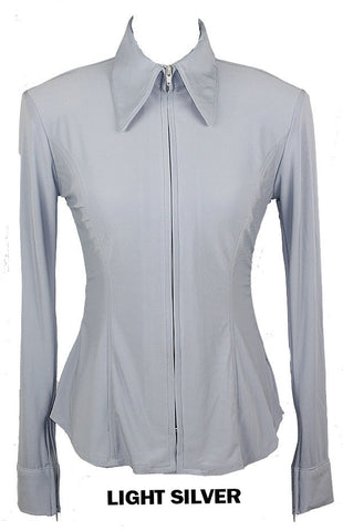 Light Silver Fitted ITY Shirt - Show Stoppin'