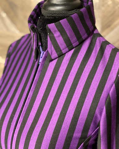 Purple and Black Stripe Shirt