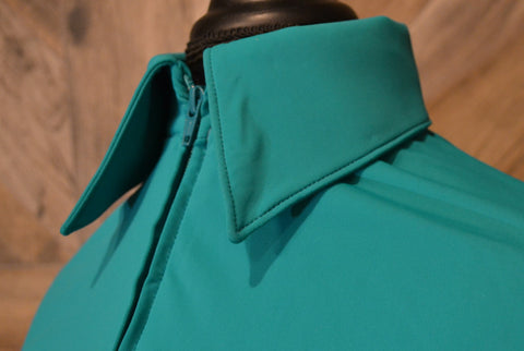 SS Teal Fitted Zip Up - Show Stoppin'