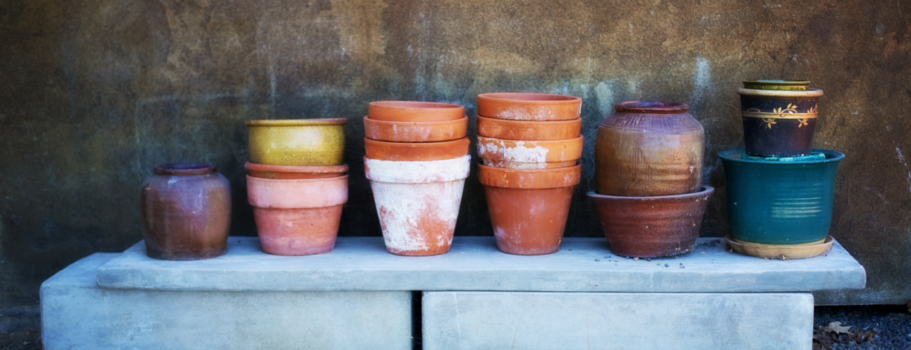 Paint your own terra cotta pots with kids