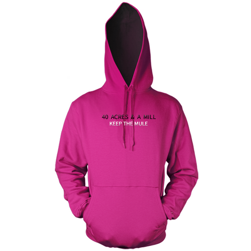 40 Acres & a MILL (Embroidery) Pink Hoody