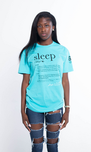 SLEEP DEFINITION TEE BLUE