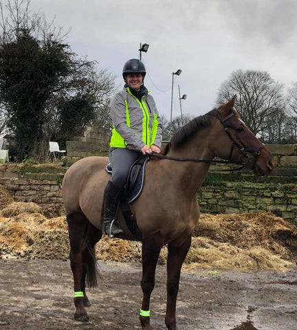 BTR High vis & reflective jacket being worn horseriding! Be seen