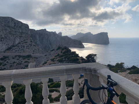 view from Formentor in Majorca after cycle ride