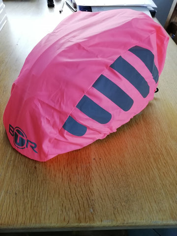 BTR pink bicycle helmet cover
