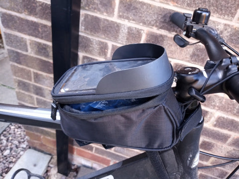 Bike Frame Bag GEN 5 with sun visor - great to sit on your crossbar