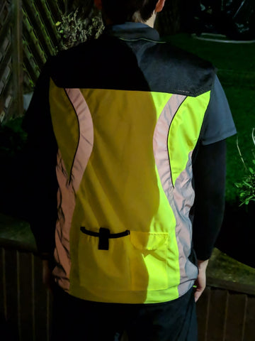BTR high vis reflective cycling and running gilet