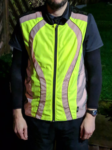 BTR High vis running and cycling gilet