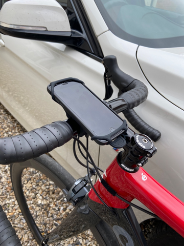 BTR Bike Phone Holder Bag with iPhone 6 in