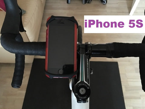 iPhone 5S in the BTR Phone Mount to shown on the handlebars