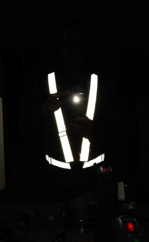 BTR high vis reflective running and cycling sash and vest