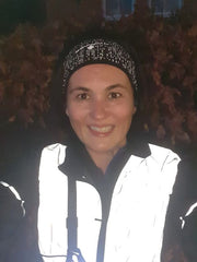 BTR Reflective Gilet on a happy runner