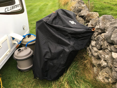 BTR heavy duty waterproof bicycle cover in the peak district