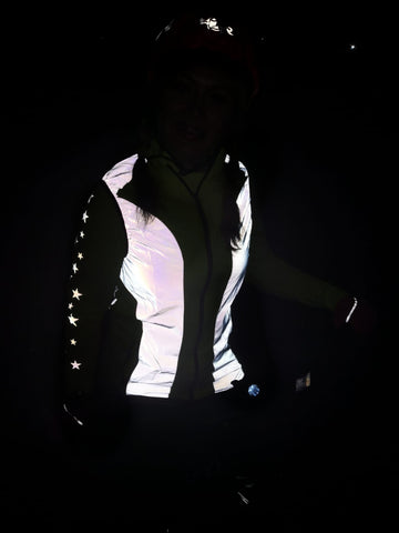 BTR Reflective high vis gilet / vest shown worn by a customer in a photo