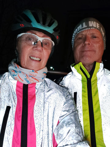 BTR reflective cycling and running jackets in pink and yellow