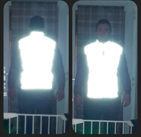 Craig wearing our BTR Be Totally Reflective gilet - he can really be seen!