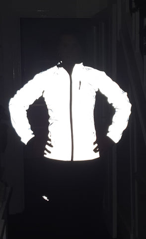 BTR high vis ladies cycling and running reflective jacket