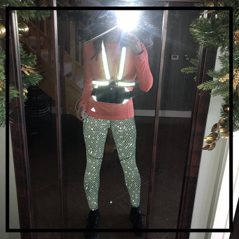 Reflective high vis sash - customer photo from Laura - BTR