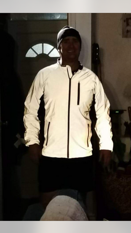 BTR high vis reflective jacket worn by man before going runnning