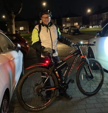 Rod, customer photo wearing our High vis reflective gilet from BTR