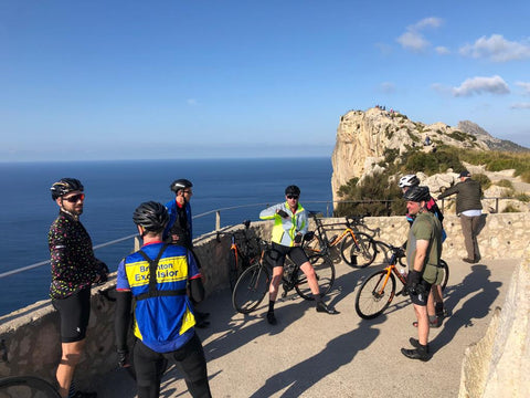 group cycle up to Formentor Mallorca