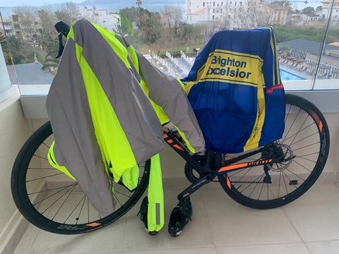 BTR high vis and reflective jacket on top of a bicycle, customer image