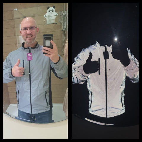 Daylight & dark totally reflective jacket - reflecting bright!