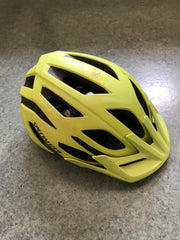 bicycle helmet with small peak