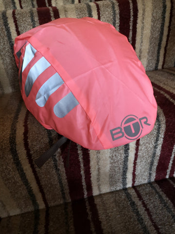 BTR pink helmet cover from a customer