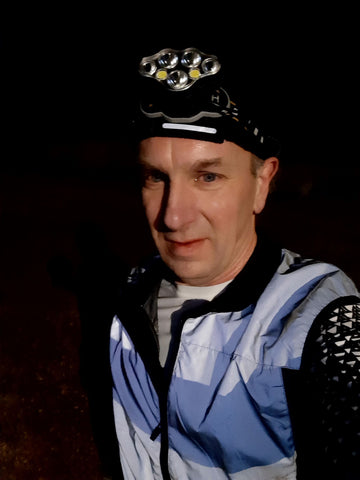 be totally reflective silver gilet from BTR Bike Train Run