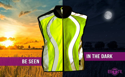 BTR High Visibility Reflective Cycling Running Gilet