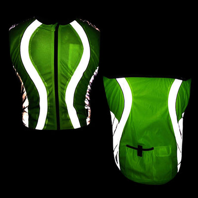 BTR High Visibility Reflective Cycling Running Gilet & 4 x High Viz Bands