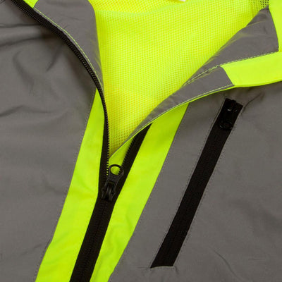 BTR high vis reflective jacket zips image
