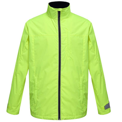 BTR Waterproof Cycling High Visz Jacket With Reflective Bands