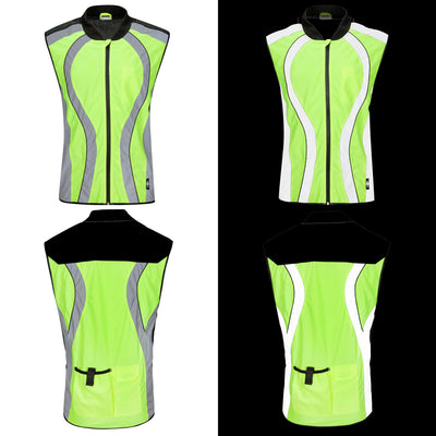 BTR High Visibility & Reflective Cycling & Running Gilet, Vest