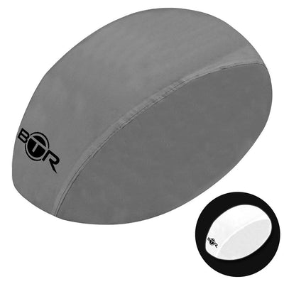Waterproof high vis reflective silver bicycle helmet cover