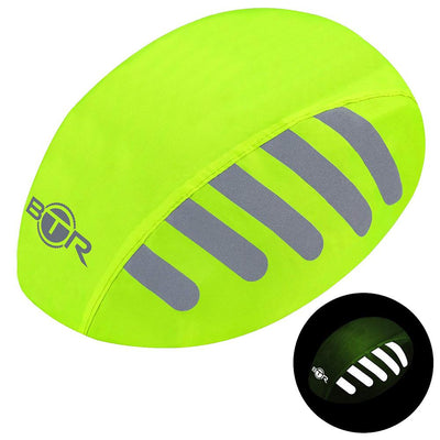 Waterproof high visibility fluorescent yellow bike helmet cover
