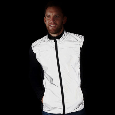 BTR Reflective Cycling & Running Gilet & Vest 3-P (2 Side & 1 Rear Pocket)
