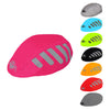 Waterproof high visibility reflective red bicycle helmet cover