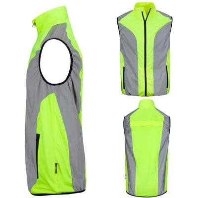 BTR Reflective High Visibility Running & Cycling Vest, Gilet.
